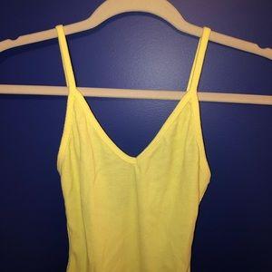 Yellow Forever 21 Bodysuit
